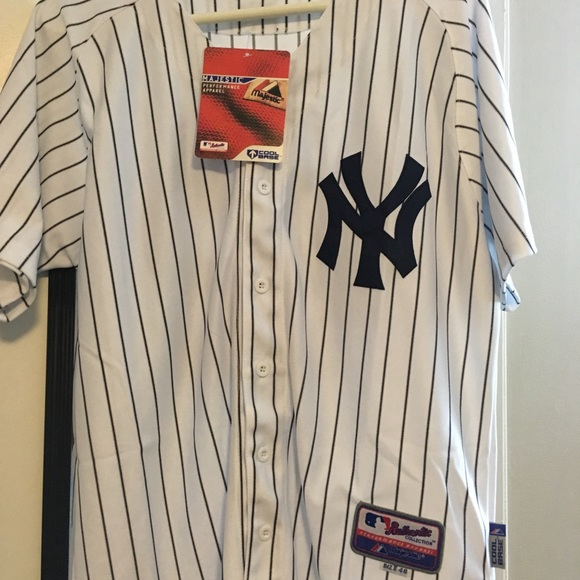 Majestic Shirts Mlb Ny Yankees Pinstripe Jersey 42 Mo Poshmark